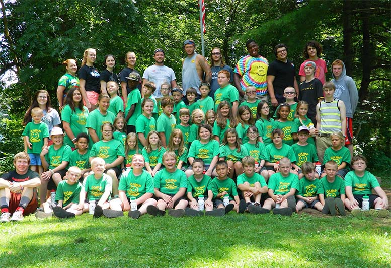 photo of campers and staff