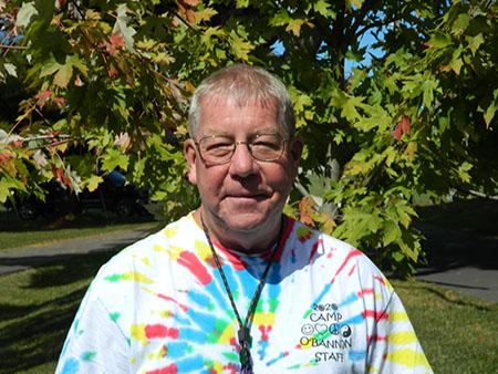 Tedd Cobb wearing a tie dye T shirt