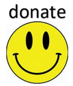 Donate button with yellow smile face